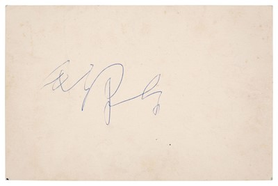 Lot 222 - Mao Zedong (1893-1976). An exceedingly rare vintage blue ink signature, [1960]