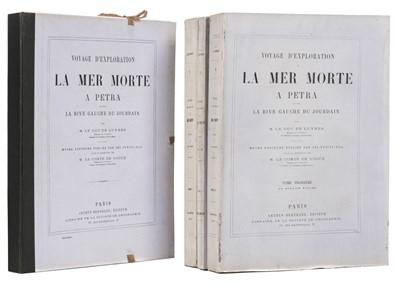 Lot 22 - Luynes (Duc de). Voyage d'exploration à la mer Morte, à Petra, 1st edition, 1874