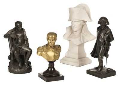 Lot 382 - Napoleon busts and statues