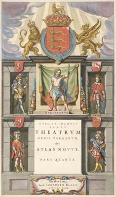 Lot 334 - Blaeu (Willem & Johannes). Theatrum orbis terrarum, pars quarta [England & Wales], Amsterdam, 1648