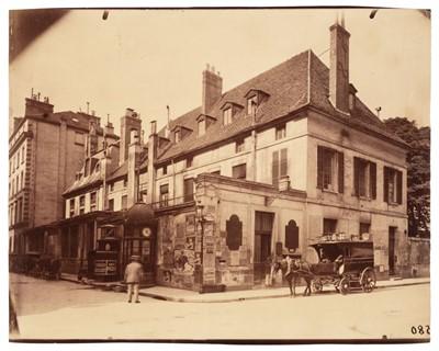 Lot 3 - Atget (Eugène, 1857-1927). 13, rue Cambon and 44, rue du Mont-Thabor, Paris, 1898