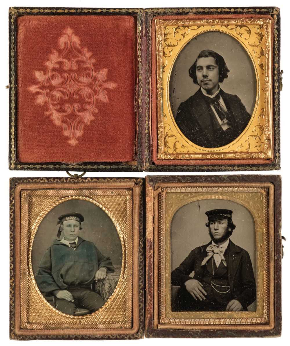Lot 23 - Cased Images. A group of approximately 60 ambrotypes and 40 tintypes, circa 1850s/1870s