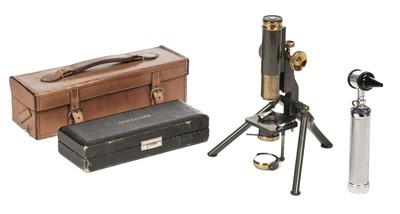 Lot 94 - Microscope. C. Baker monocular microscope