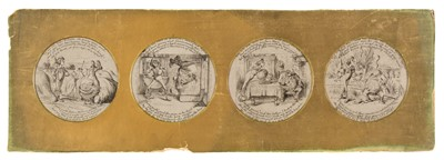 Lot 502 - After John Tenniel (1820-1914). A set of four drawings of scenes from Alice in Wonderland
