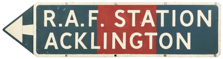 Lot 564 - Directional Sign - RAF Acklington
