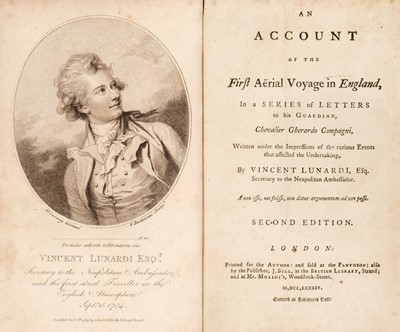 Lot 370 - Lunardi (Vincenzo). An Account of the First Aerial Voyage in England