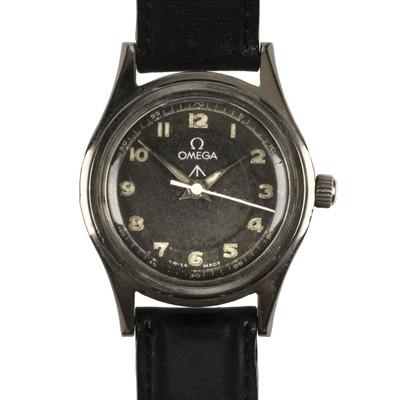 Lot 380 - Military Wristwatch. WWII Omega Wristwatch