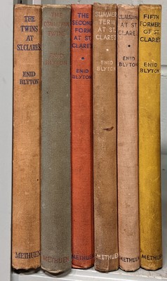 Lot 471 - Blyton (Enid). The St. Clare's books,  a complete set, mixed editions and signed