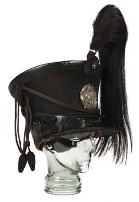 Lot 389 - Bell Top Shako. Trooper's Pattern 1822 Helmet of the Yorkshire Hussars