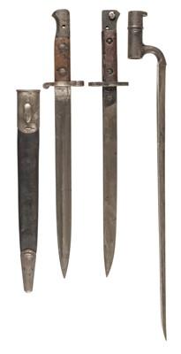 Lot 361 - Bayonets. Three bayonets, Ayrshire Yeomanry, and others