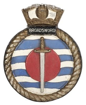 Lot 366 - Falklands War. HMS Broadsword Bulkhead Tompion