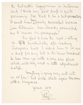 Lot 315 - Prince Philip (1921-2021). Autograph Letter Signed, 1956