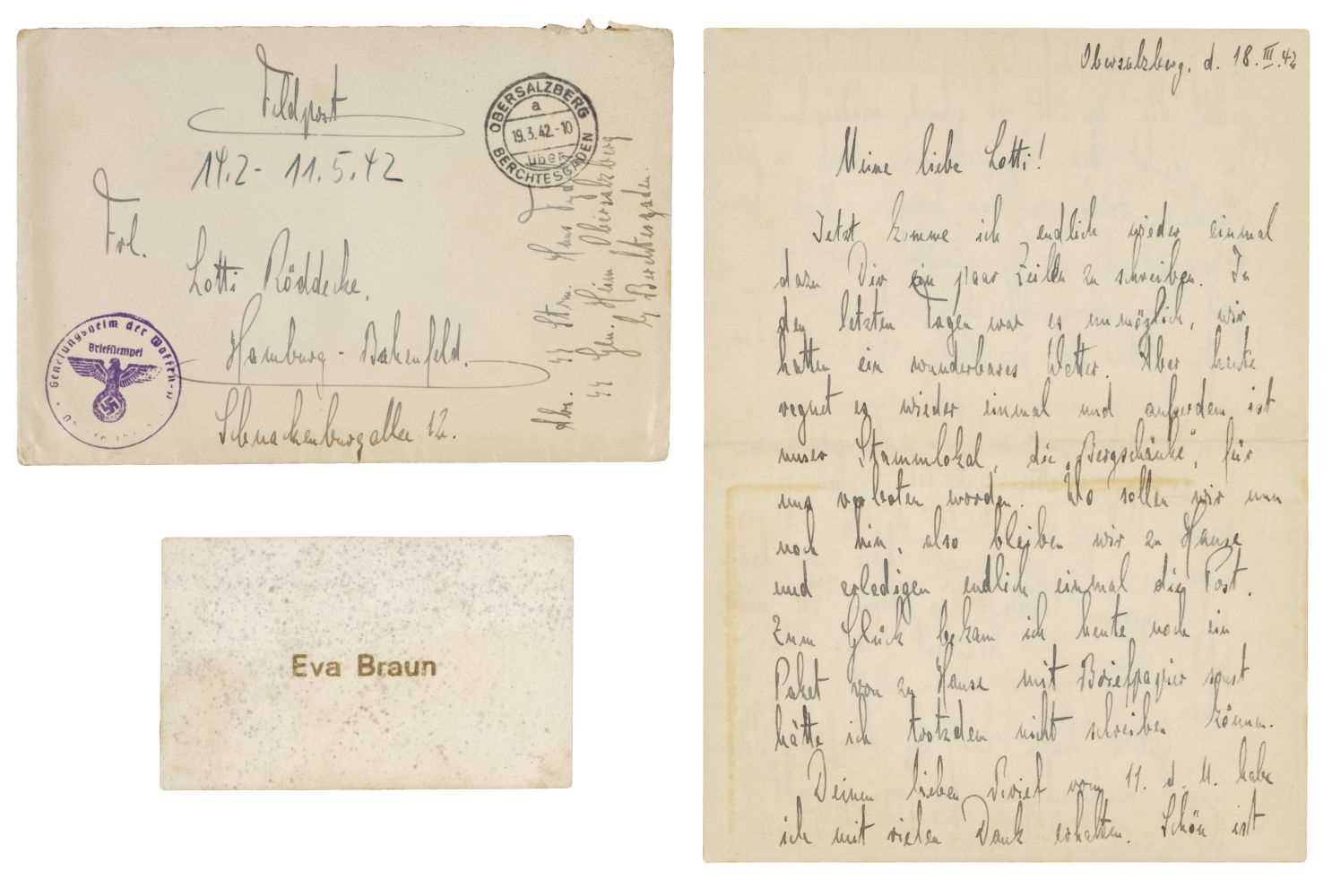 Lot 321 - Third Reigh.  SS Guard's Letter - Dated 1942