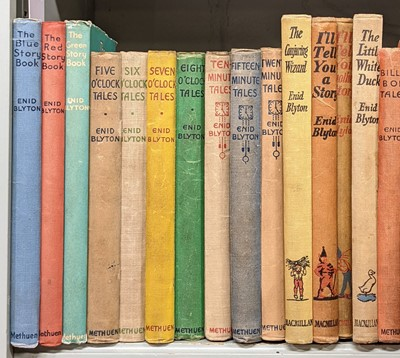 Lot 465 - Blyton (Enid). The Blue, Red & Green Story Books, 1st editions, inscribed by the author, and others