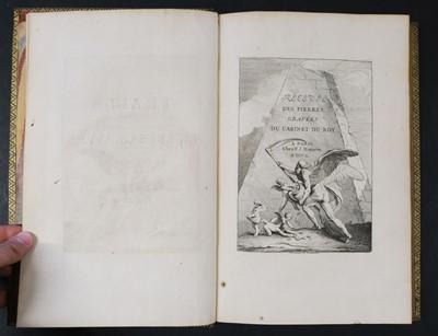 Lot 226 - Mariette (Pierre-Jean). Traité des pierres gravées / Recueil des pierres gravées..., 2 vols., 1750