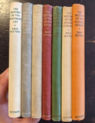 Lot 469 - Blyton (Enid). The Mystery of the Burnt Cottage, and 6 other 'Mystery' series, 1944-1949, signed