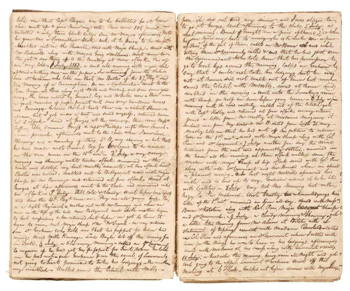 Lot 282 - Napoleonic Prisoner-of-War Diary. 1812-1814