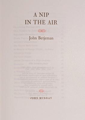 Lot 517 - Betjeman (John). A Nip in the Air, 1974