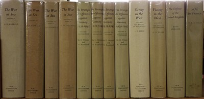 Lot 350 - History of the Second World War. 12 volumes, mixed editions, London: H.M.S.O., 1954-74