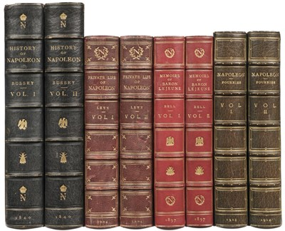Lot 340 - Bussey (George Moir). History of Napoleon, 2 volumes, 1840