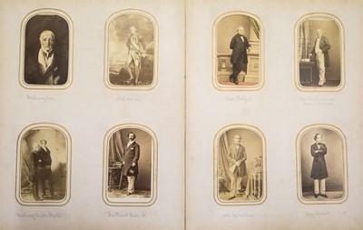 Lot 18 - Cartes de Visite. An album containing approximately 90 cartes de visite