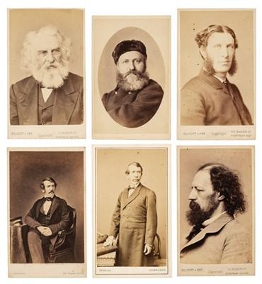 Lot 17 - Cartes de Visite. A group of approximately 160 cartes de visite portraits, mostly circa 1860s