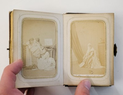 Lot 20 - Cartes de Visite. An album containing 62 window-mounted portraits of performers, circa 1860s-1870s
