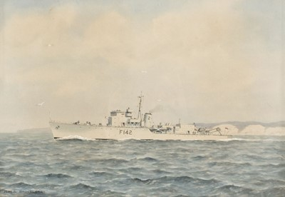 Lot 322 - Tufnell (Eric Erskine Campbell 1888-1978). HMS Brocklesby, together with SS 'Crosshill'