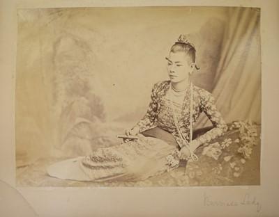 Lot 10 - Burma. An album of photographs of Burmese people and scenes