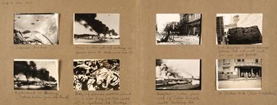 Lot 26 - China. An album of approximately 175 window-mounted gelatin silver print snapshots, circa 1937