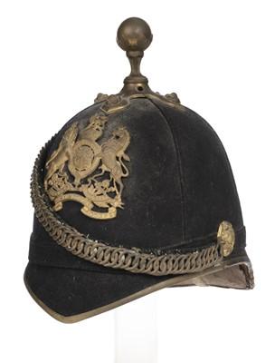 Lot 362 - Helmet. Edwardian RAMC blue cloth helmet