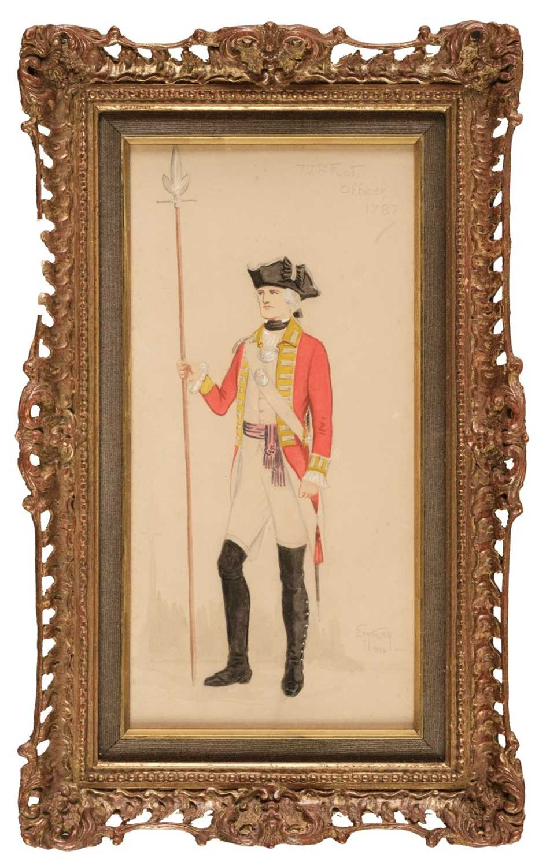 Lot 307 - Howell (Lieutenant Ernest Vernon, 1891-). 77th Foot Officer, 1787, 1807, & 1836, 1932