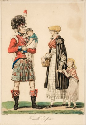 Lot 304 - Debucourt (Philibert-Louis, 1755-1832). Famille Ecossaise & Officiers Anglais et Ecossais