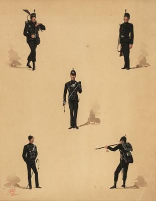 Lot 329 - Wymer (Reginald Augustus, 1849-1935), Uniforms of the Rifle Brigade, 1881