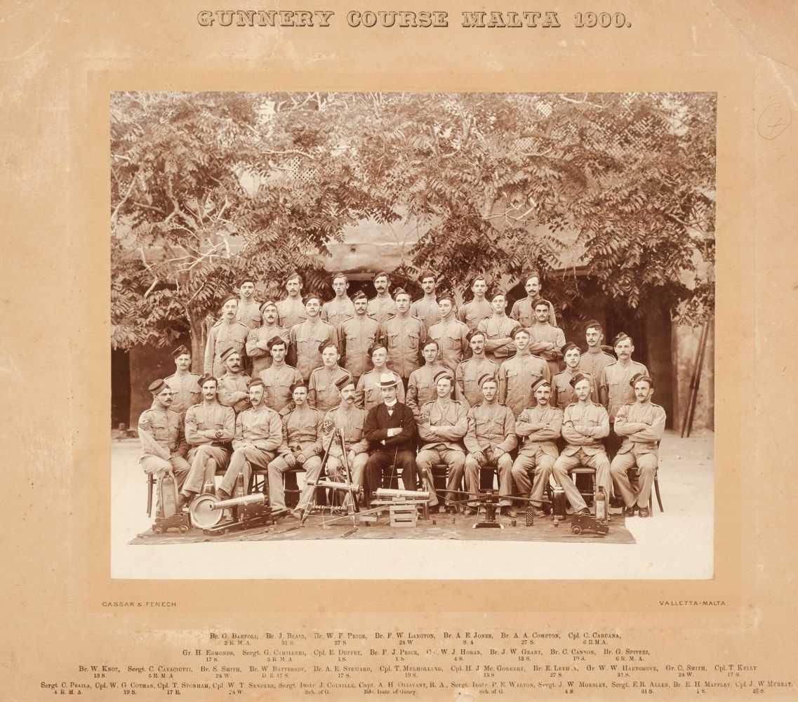 Lot 313 - Military Photographs. Gunnery Course, Malta 1900