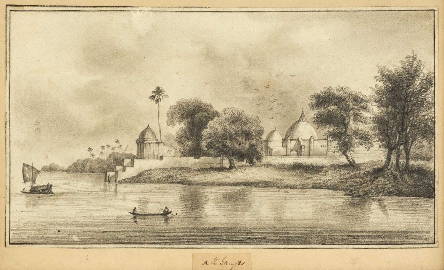 Lot 12 - India. Two views on the River Ganges and others