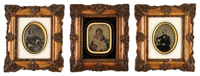 Lot 2 - Ambrotypes. A pair of quarter-plate ambrotypes, circa 1870s