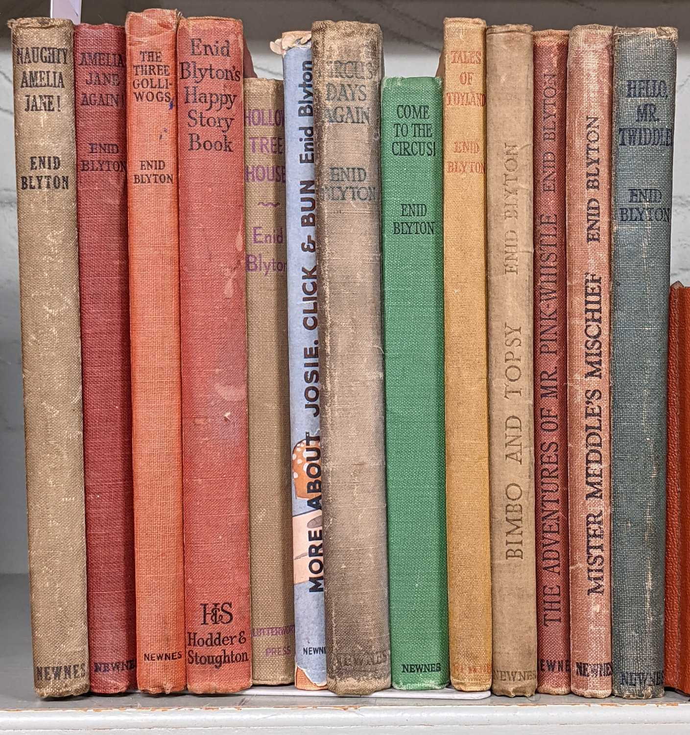 Lot 463 - Blyton (Enid). Sunny Stories Library books 1-7, and others, most signed