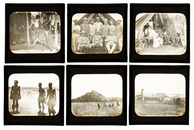 Lot 24 - Central Africa. A group of 92 diapositive magic lantern slides