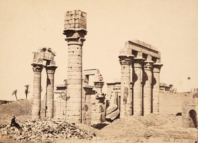 Lot 48 - Frith (Francis). A group of 7 mounted albumen prints of Egypt, 1857