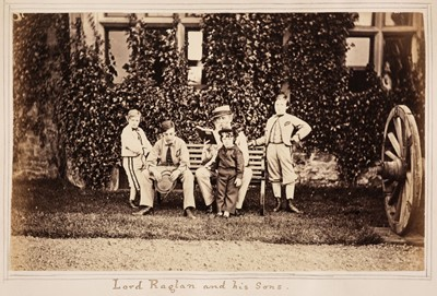 Lot 35 - Early Photography. An album of photographic portraits and some views, circa 1860s