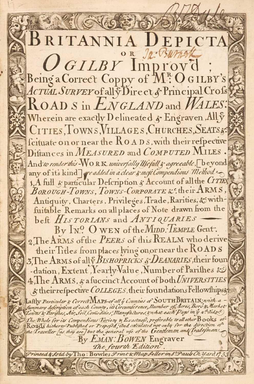 Lot 39 - Bowen (Emanuel & Owen John). Britannia Depicta or Ogilby Improv'd..., 1753