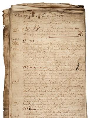 Lot 148 - Court Rolls: Hensall Court, Yorkshire, 1600-1623 & 1626, 1633, 1635 & 1639