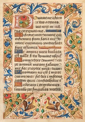 Lot 90 - Illuminated Leaf. Illuminated leaf from a Book of Hours, Northern France, circa 1500