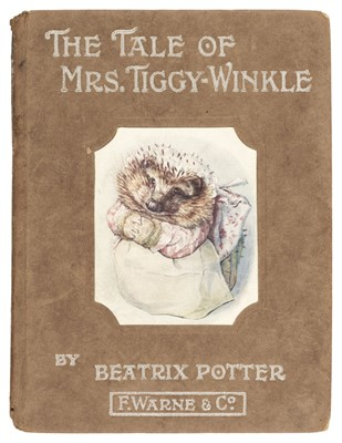 Lot 483 - Potter (Beatrix). The Tale of Mrs. Tiggy-Winkle, 1st edition, 1905