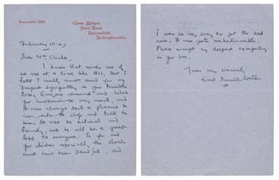 Lot 473 - Blyton (Enid, 1897-1968). Autograph letter signed, 'Enid Darrell Waters', 1947