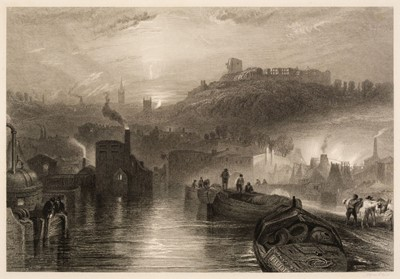 Lot 393 - Turner (Joseph Mallord William, 1775-1851). The Mew Stone, Entrance of Plymouth Harbour, 1815