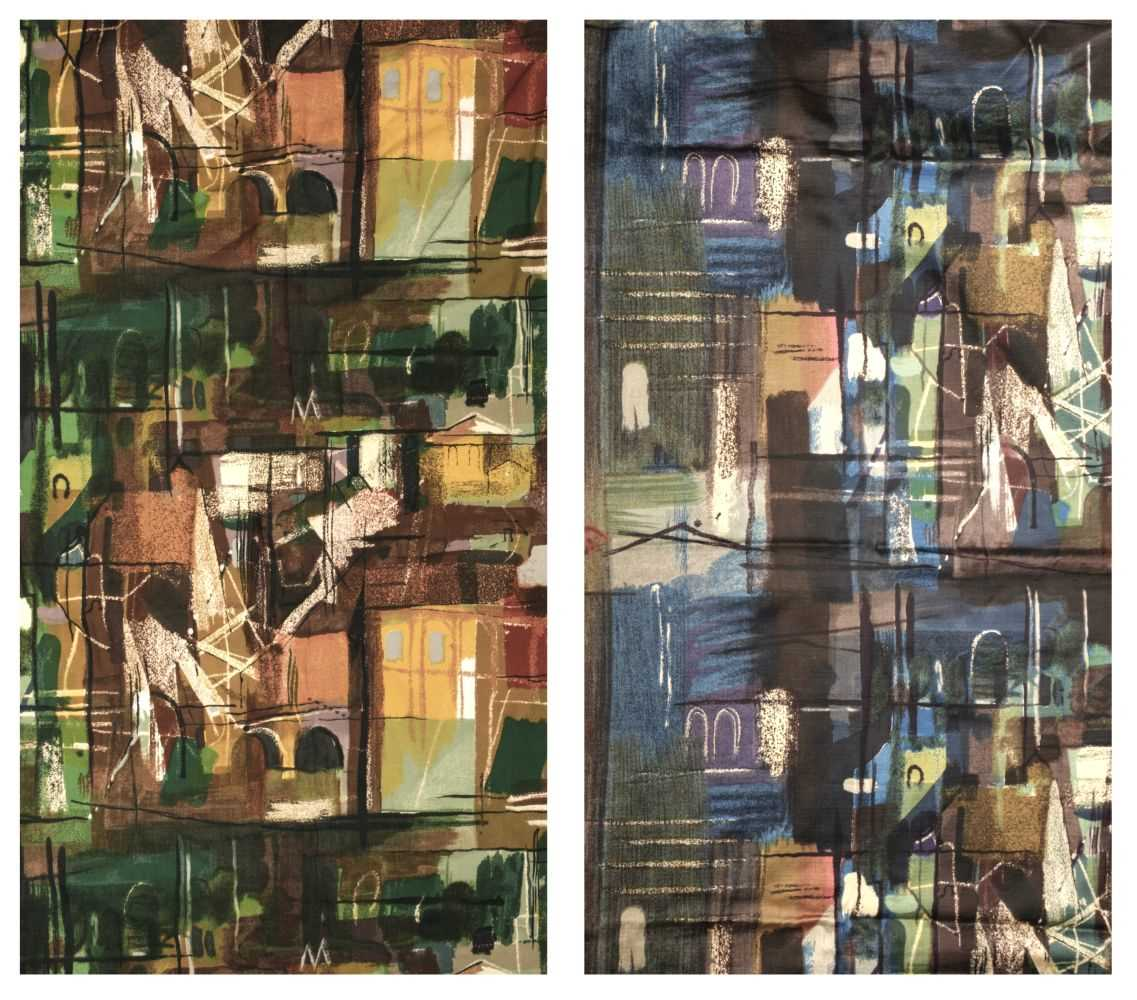 Lot 270 - Piper (John). Four pairs of curtains, Stones of Bath, Sanderson, 1960