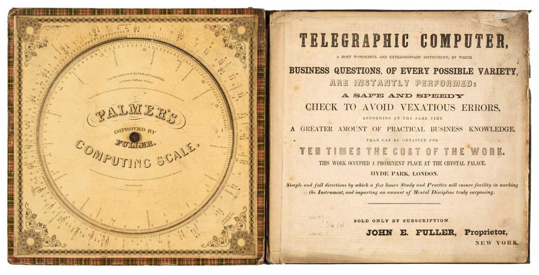 Lot 447 - Fuller (John E.). Fuller's Computing Telegraph [cover title], 1860s