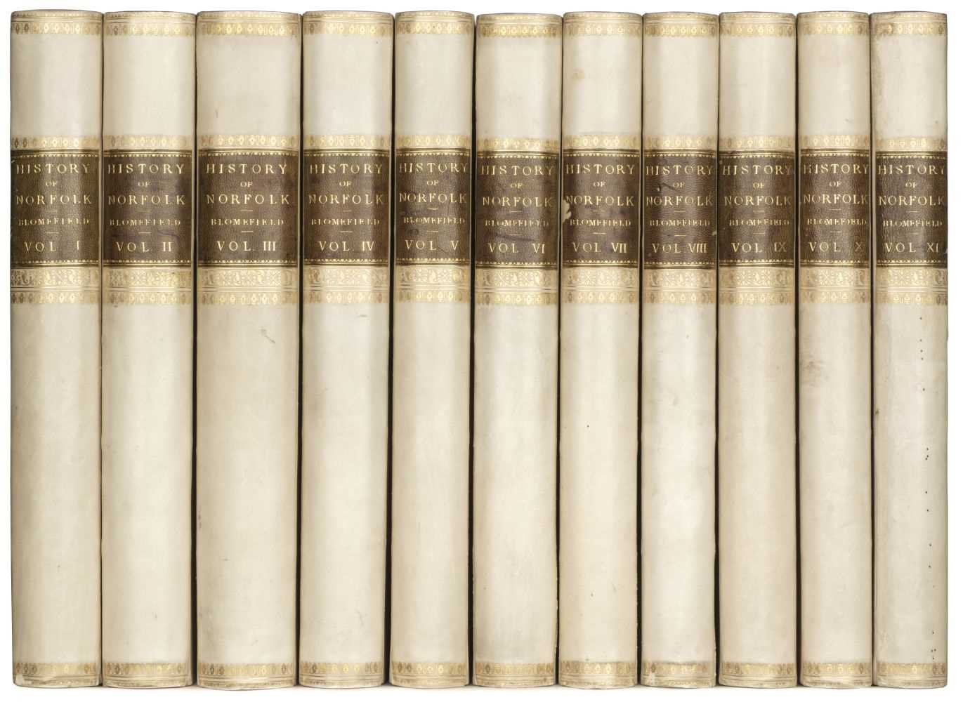 Lot 38 - Blomefield (Francis). An Essay towards a Topographical History of ... Norfolk, 11 vols., 1805-10